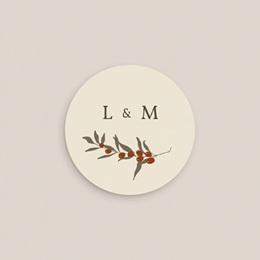 Etiquette enveloppes mariage Rameau bohème, sticker gratuit