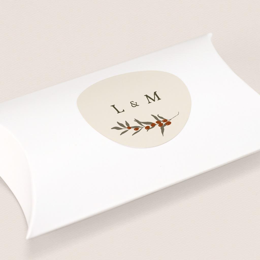 Etiquette enveloppes mariage Rameau bohème, sticker