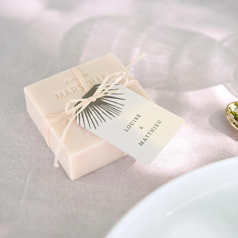 Etiquettes cadeaux mariage Palme Bohème