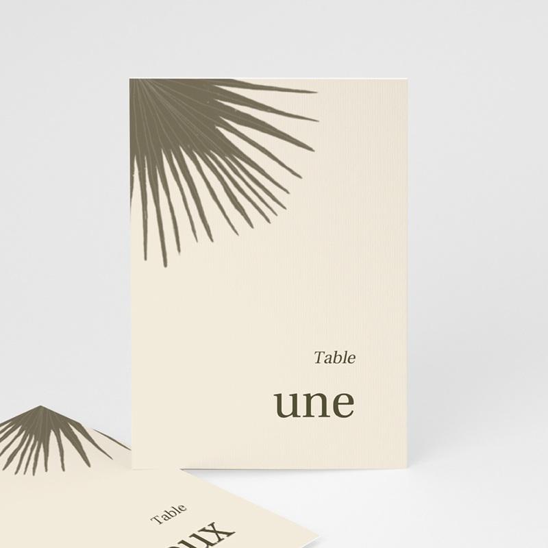 Marque table mariage Palme Bohème