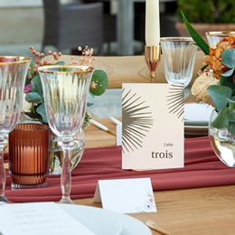 Marque table mariage Palme Bohème pas cher