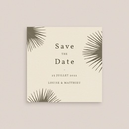 Save-the-date mariage Palme Bohème gratuit