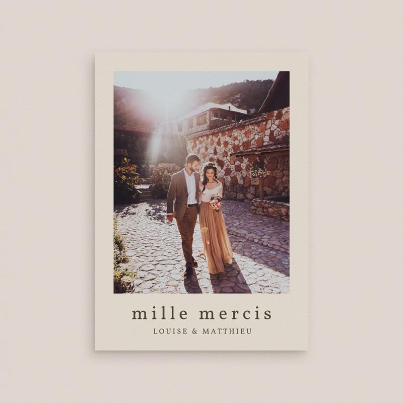 Carte de remerciement mariage Palme Bohème gratuit