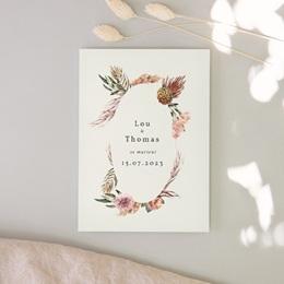 Faire-part de mariage Médaillon Floral, 12 x 16,7 cm