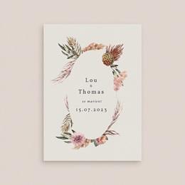 Faire-part de mariage Médaillon Floral, 12 x 16,7 cm gratuit