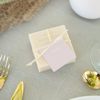 Marque-place mariage typographie