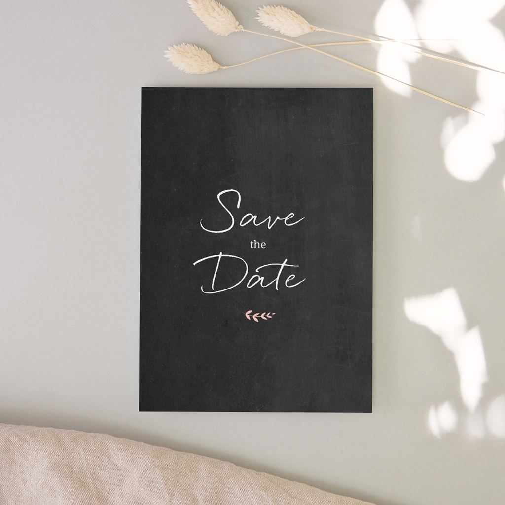 Save-the-date mariage Perfect Day Ardoise, Jour J