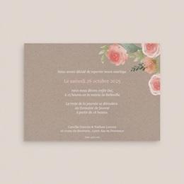 Change the date mariage Fleurs d'aquarelle Kraft, New date pas cher