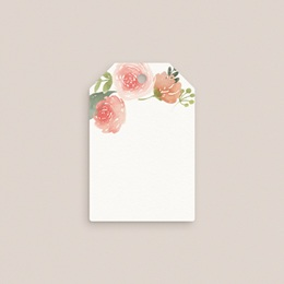 Marque-place mariage Fleurs d'aquarelle Kraft gratuit