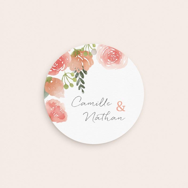 Etiquettes cadeaux mariage Fleurs d'Aquarelle Kraft, 13 x 8 cm gratuit