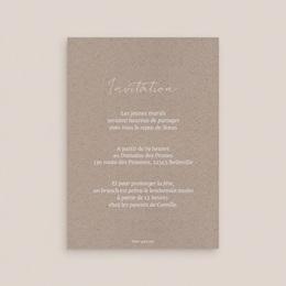 Carte invitation Brunch Fleurs d'Aquarelle Kraft, dîner & Brunch pas cher