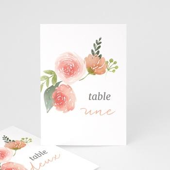 Marque table mariage Fleurs d'Aquarelle Kraft, Lot de 3