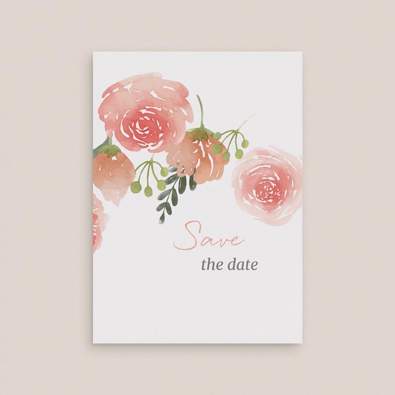 Save-the-date mariage Fleurs d'Aquarelle Kraft, Jour J gratuit
