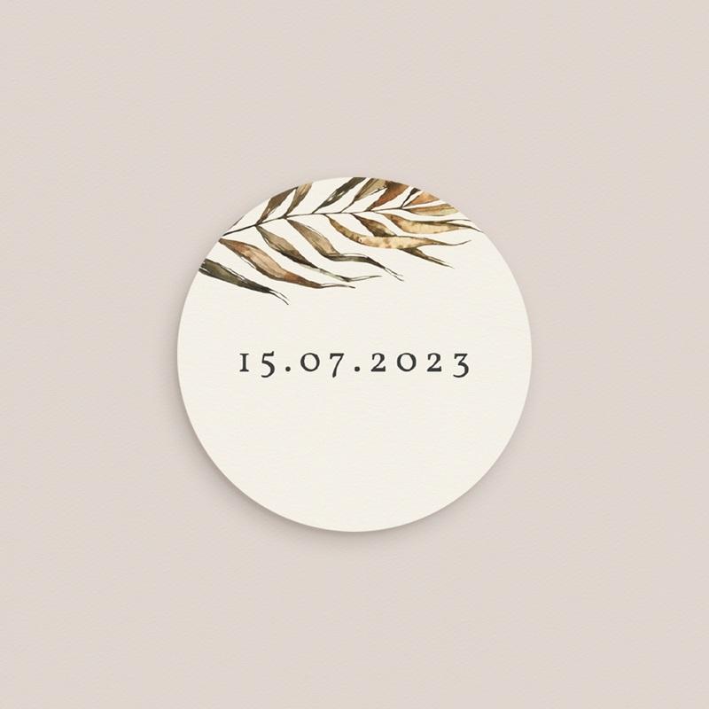 Etiquette enveloppes mariage Médaillon Floral, 4,5 cm gratuit