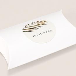 Etiquette enveloppes mariage Médaillon Floral, 4,5 cm