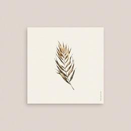 Carton réponse mariage Médaillon Floral, 10 x 10 cm pas cher