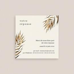 Carton réponse mariage Médaillon Floral, 10 x 10 cm gratuit