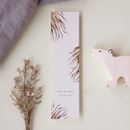 Save-the-date mariage Médaillon Floral, Marque-page pas cher