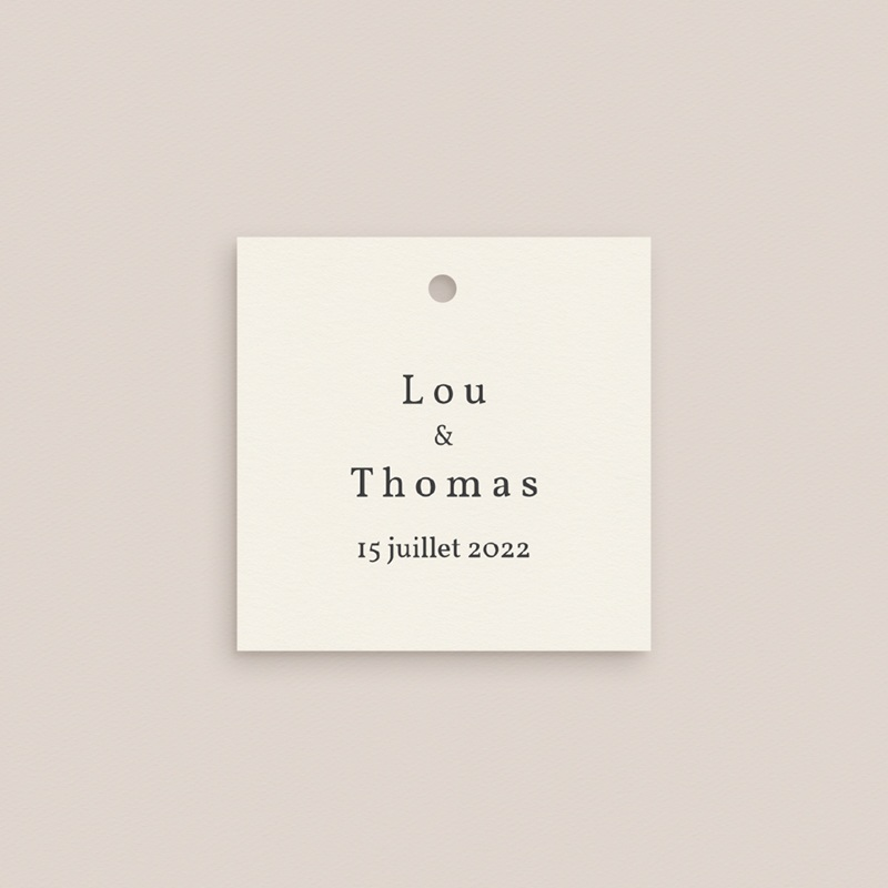 Marque-place mariage Médaillon Floral, 4,5 x 4,5 cm pas cher