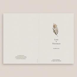 Livret de messe mariage Médaillon Floral, 15 x 22 cm gratuit