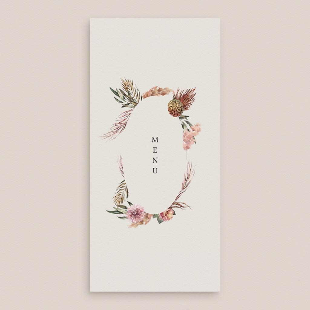 Menu mariage Médaillon Floral, 10 x 21 cm gratuit