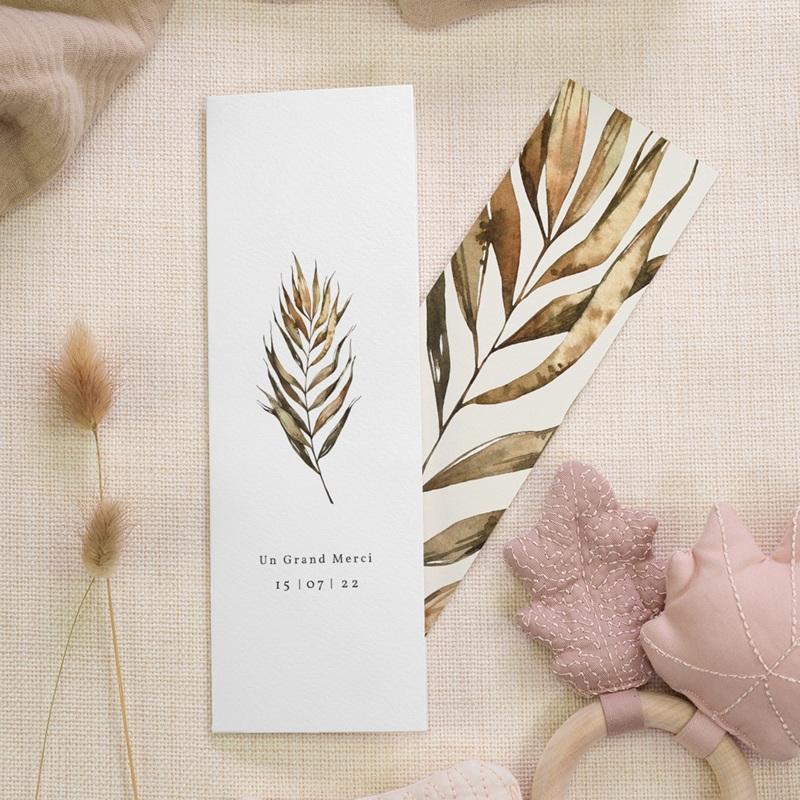 Carte de remerciement mariage Médaillon Floral, 7 x 21 cm gratuit