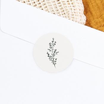 Etiquette enveloppes mariage Encadrement Floral, 4,5 cm