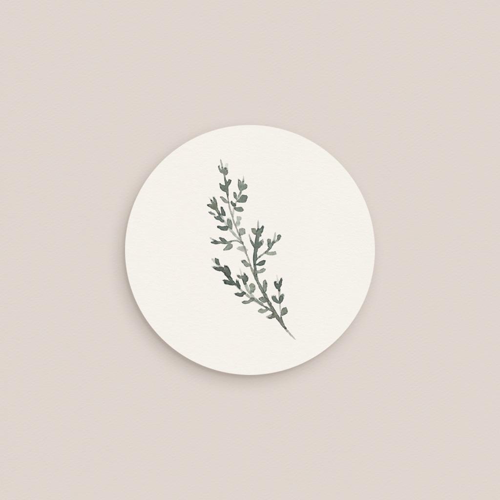 Etiquette enveloppes mariage Encadrement Floral, 4,5 cm gratuit