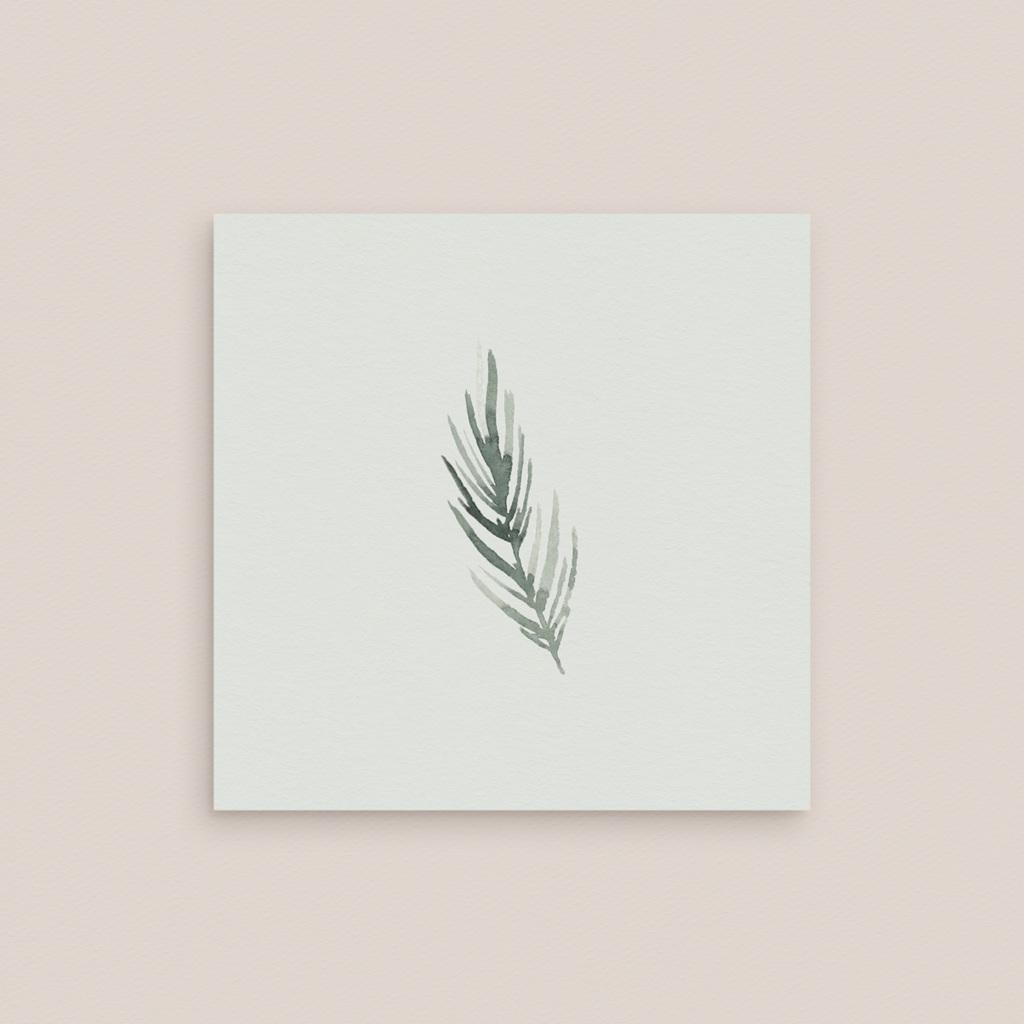 Carton réponse mariage Encadrement Floral, 10 x 10 cm pas cher