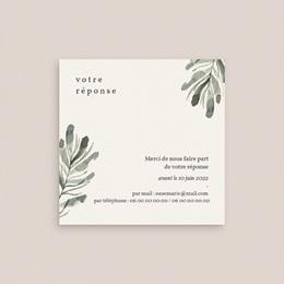 Carton réponse mariage Encadrement Floral, 10 x 10 cm gratuit
