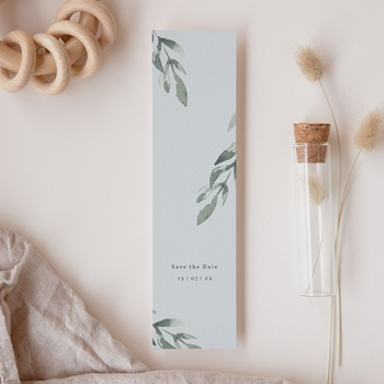 Save-the-date mariage Encadrement Floral, marque-page