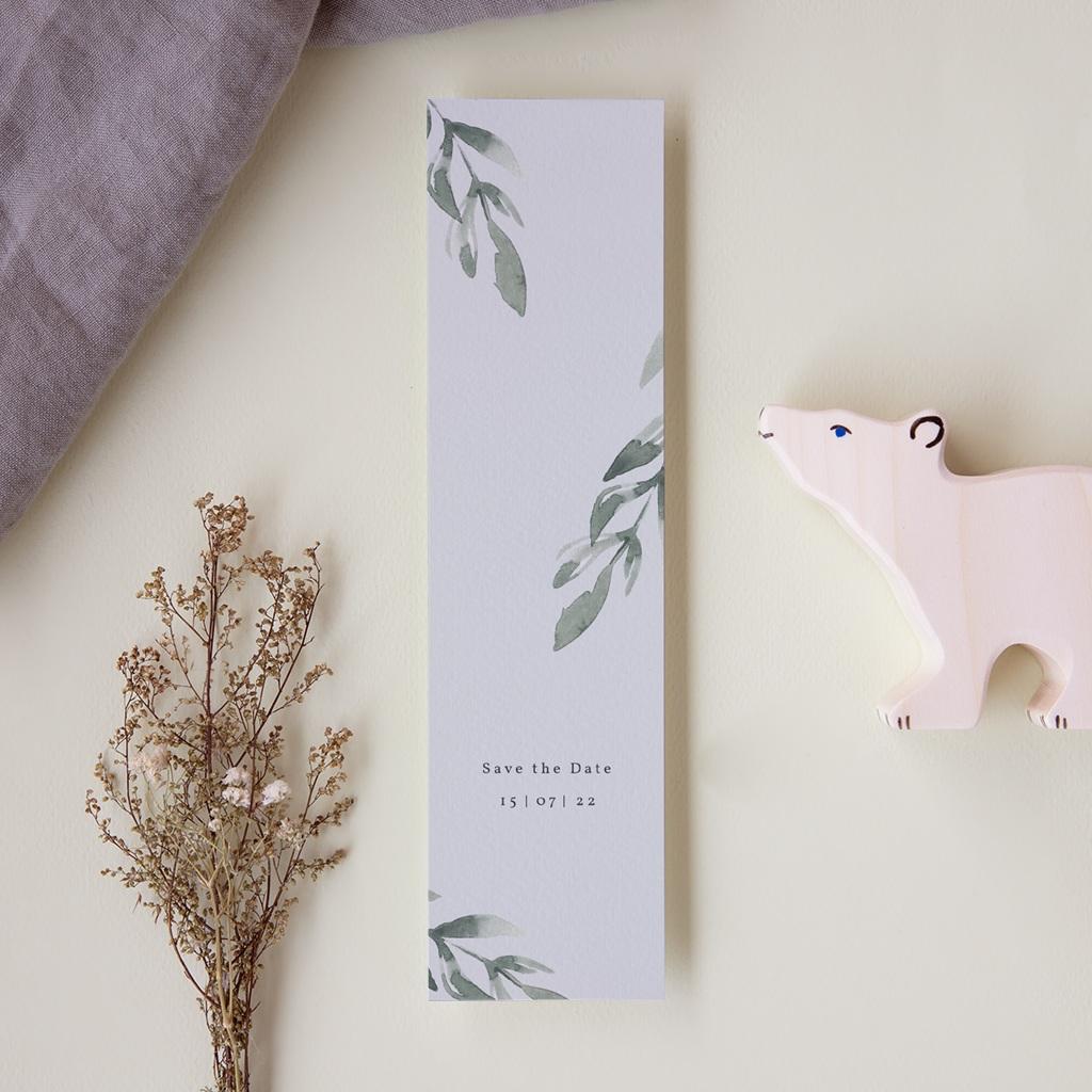 Save-the-date mariage Encadrement Floral, marque-page pas cher