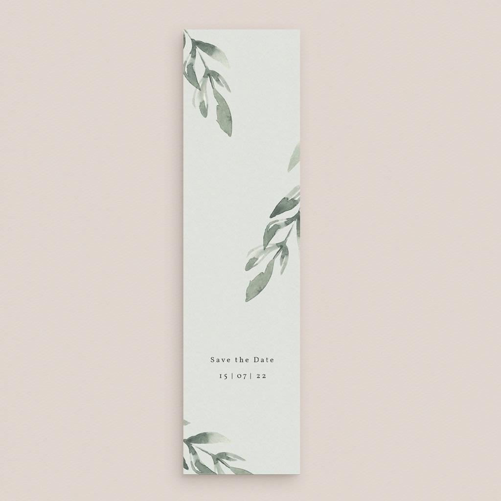 Save-the-date mariage Encadrement Floral, marque-page gratuit