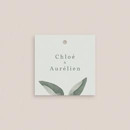 Etiquettes cadeaux mariage Encadrement Floral, 4.5 x 4.5 cm pas cher