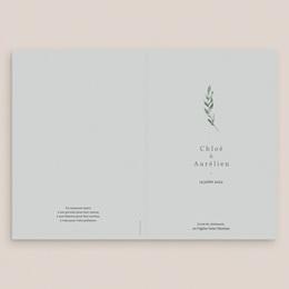Livret de messe mariage Encadrement Floral, 15 x 22 cm gratuit