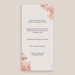 Menu mariage Encadrement Floral, 10 x 21 cm pas cher