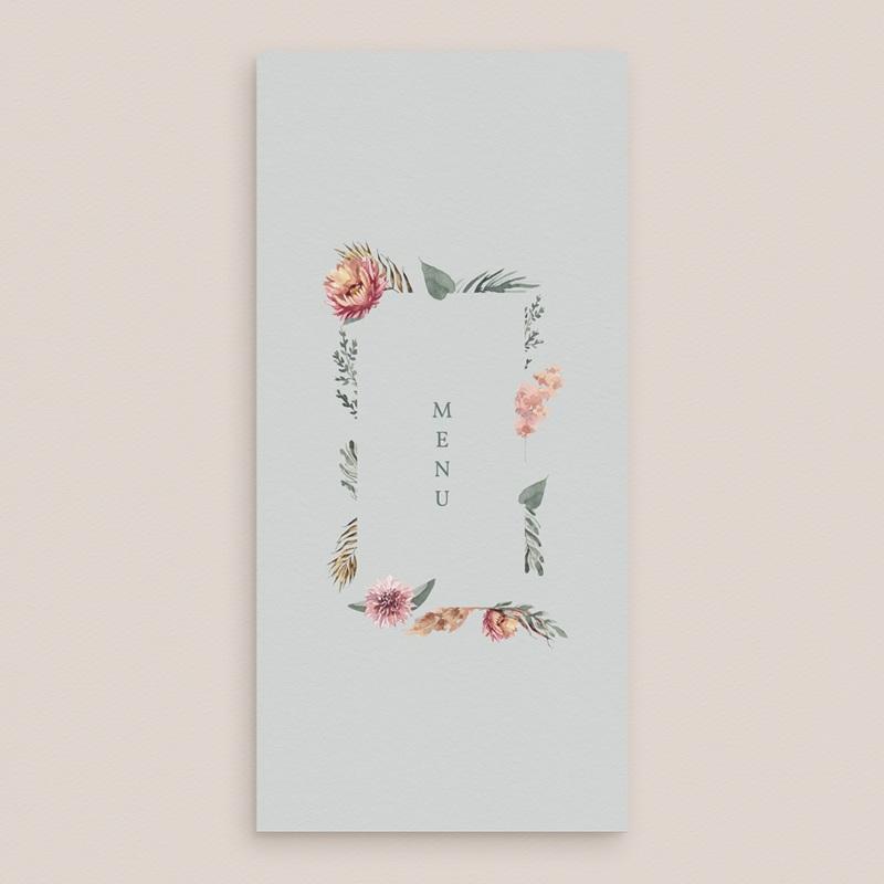 Menu mariage Encadrement Floral, 10 x 21 cm gratuit