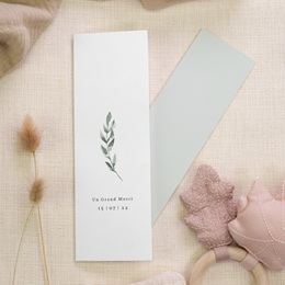 Carte de remerciement mariage Encadrement Floral, 7 x 21 cm gratuit