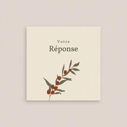 Carton réponse mariage Olivier Boho RSVP gratuit