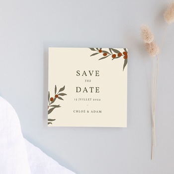 Save-the-date mariage Olivier Boho, Date Jour J