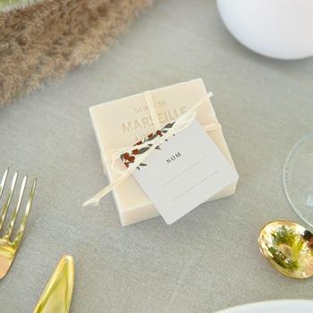 Carte de remerciement mariage nature Olivier Boho invité