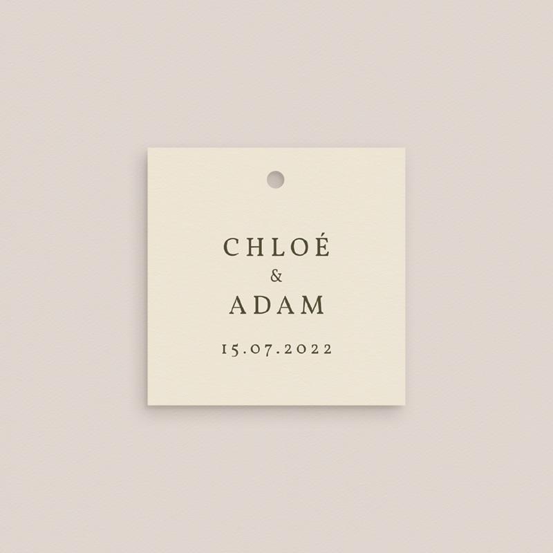 Carte de remerciement mariage nature Olivier Boho invité pas cher