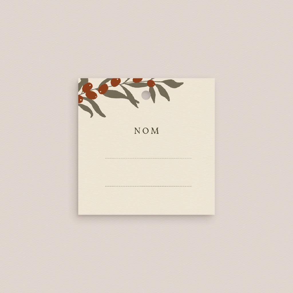 Carte de remerciement mariage nature Olivier Boho invité gratuit