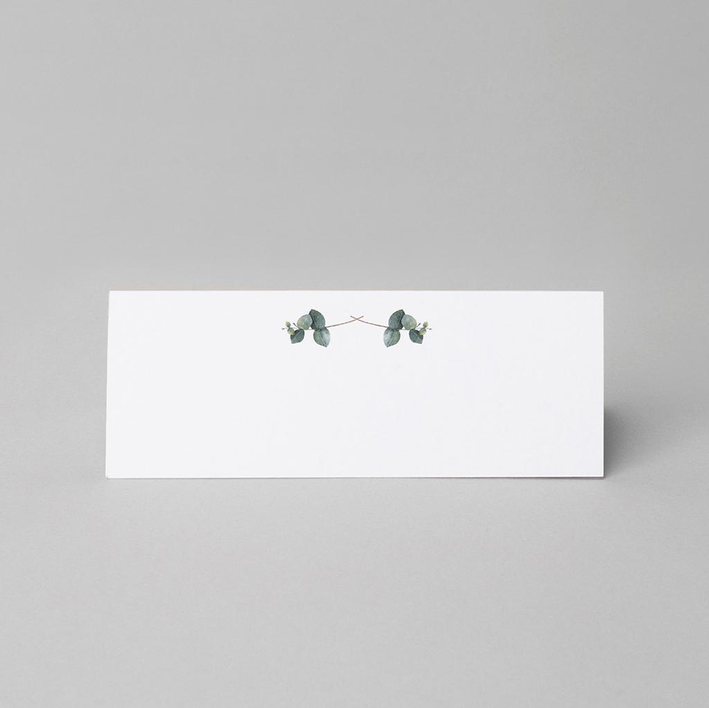 Marque-place mariage Liège d'Eucalyptus pas cher