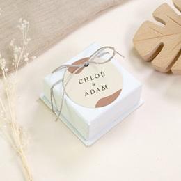 Etiquettes cadeaux mariage Olivier Boho, souvenir