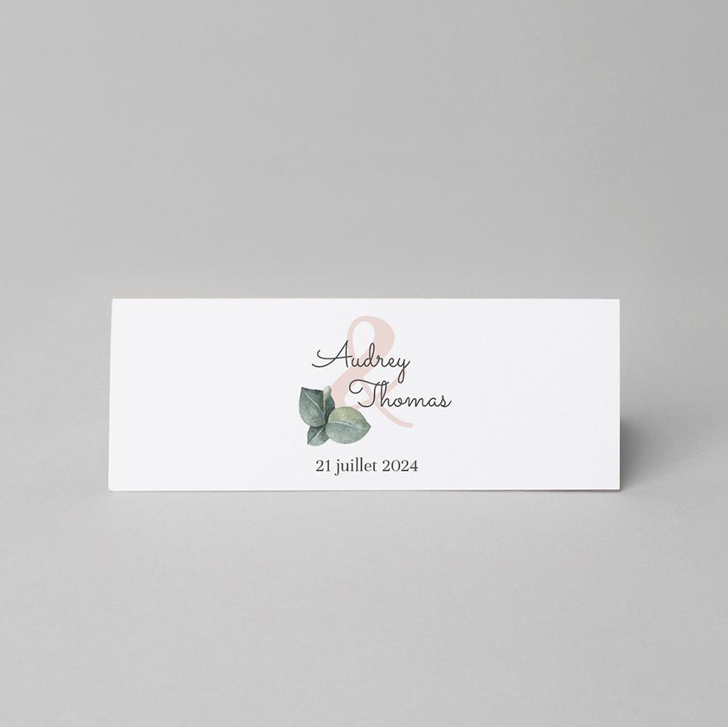 Marque-place mariage Liège d'Eucalyptus gratuit