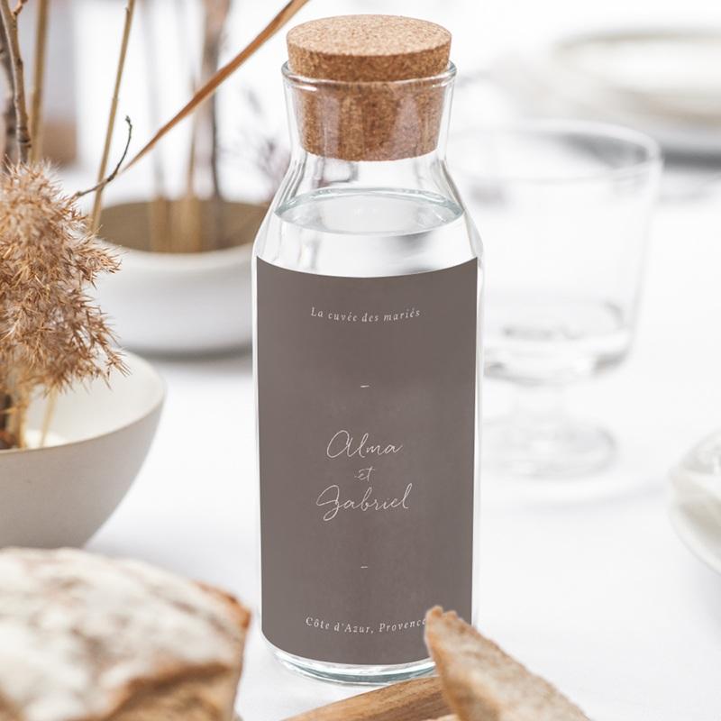 Etiquette bouteille mariage Couronne de Fleurs d'Oranger, Vin gratuit