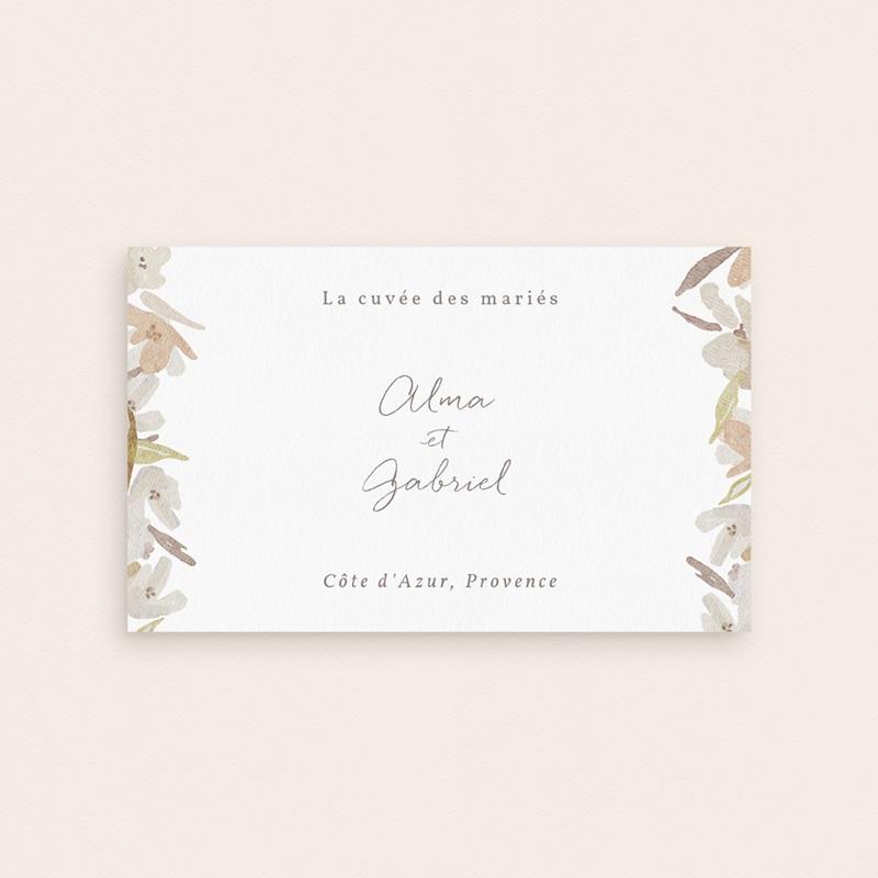 Etiquette bouteille mariage Couronne de Fleurs d'Oranger, Champagne pas cher