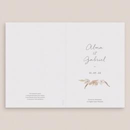 Livret de messe mariage Couronne de Fleurs d'Oranger, Couverture gratuit