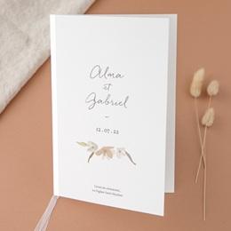 Livret de messe mariage Couronne de Fleurs d'Oranger, Couverture